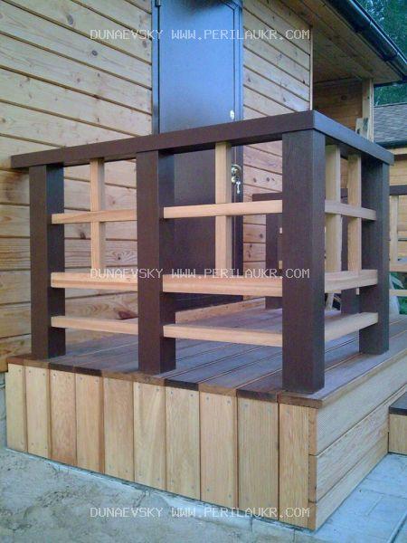Ограждение террасы деревянные, стеклянные, металлические - о.